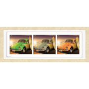 "VW Californian Beetles - 30"""" x 12"""" Framed Photographic"