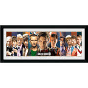 "Doctor Who 11 Doctors - 30"""" x 12"""" Framed Photographic"