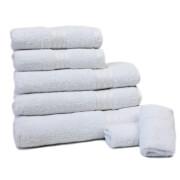 Restmor 100% Ägyptische Baumwolle 7 Stück Premium Handtuchset - Weiß