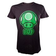 Mushroom - T-Shirt (Pixelated Black)