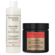 Christophe Robin Regenerating Mask (250ml) and Delicate Volumizing Shampoo with Rose Extracts (250ml)