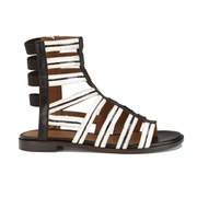 Thakoon Addition Women's Taylor 2 Leather Stripe Gladiator Sandals - Black