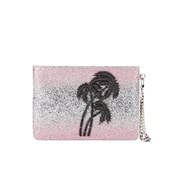 Matthew Williamson Women's Glitter Clutch Bag - Light Pink/Silver