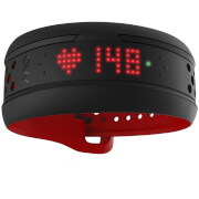Mio Fuse Heart Rate Wrist Band - Long Strap - Crimson