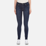 Cheap Monday Women's Second Skin High Waisted Skinny Jeans - Credit Dark Blue