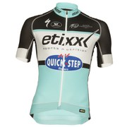 Etixx Quick-Step Replica Pro Race Short Sleeve Jersey - Black/Blue