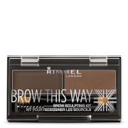 Rimmel Brow This Way Eyebrow Kit - 003 Dark Brown