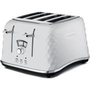 De'Longhi CTJ4003 Brilliante 4 Slice Toaster - White