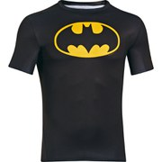 Under Armour Men's Batman Compression Short Sleeved T-Shirt - Negro/Amarillo