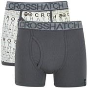 Crosshatch Men's Squint 2-Pack Boxer Shorts - Vaporous Grey/Magnet