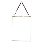 "Nkuku Kiko Glass Frame - Antique Brass - Portrait 8"" x 10"" (20 x 25cm)"