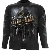 Spiral Men's GAME OVER Long Sleeve T-Shirt - Black