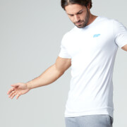Myprotein Herren Longline kurzärmliges T-Shirt, Weiß