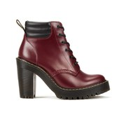 Dr. Martens Women's Persephone 6-Eye Padded Collar Heeled Boots - Black