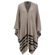 Selected Femme Women's Caia Knitted Cape - String Comb