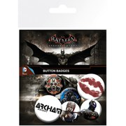 Lot de deux badges DC Comics Batman Arkham Knight