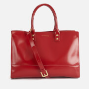 Lulu Guinness Women's Medium Daphne Polished Leather Tote Bag - Red