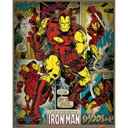 Marvel Comics Iron Man Retro - 16 x 20 Inches Mini Poster