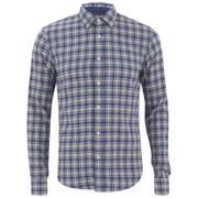 Scotch & Soda Men's Multicolour Check Shirt - Blue