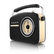 Akai Retro 50s FM/AM Radio - Black