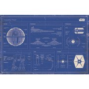 Star Wars Imperial Fleet Blueprint - 24 x 36 Inches Maxi Poster