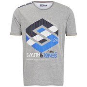 Smith & Jones Men's Stoneleigh T-Shirt - Mid Grey Marl