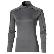 Asics Women's Lite Show Long Sleeve Neck Running Top - Dark Grey Heather