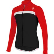 Castelli Criterium Long Sleeve Jersey - Black/Red/White