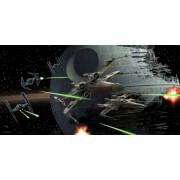 Star Wars Glass Poster - Tie Fighter vs. X-Wing (50 x 25cm)