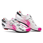 Sidi Women's Wire Carbon Air Vernice Cycling Shoes - White/Pink Fluo