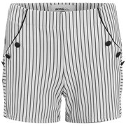 Vero Moda Women's Ingrid Nautical Shorts - Black Iris