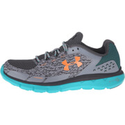 Under Armour Women's Micro G Velocity RN Storm Running Shoes - Steel Neptune/Orange