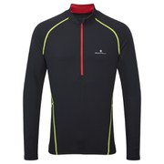 RonHill Men's Advance Thermal 200 1/2 Zip Long Sleeve Top - Black/Red