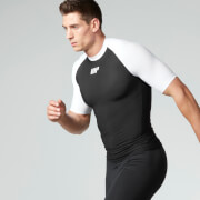 Myprotein Men's Compression Short Sleeve Top - Black