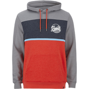 Animal Men's Culver Colour Block Hoody - Orange/Grey