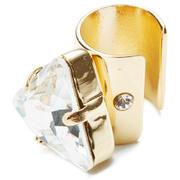 Maria Francesca Pepe Women's Large Bullet Earcuff - Gold