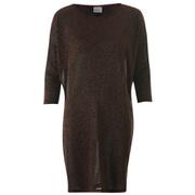 Vero Moda Women's Sianna 3/4 Mini Dress - Black/Cobber Lurex