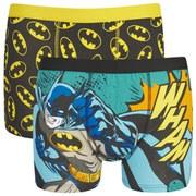Batman Men's 2 Pack All Over Print Boxers - Blue
