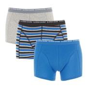 Bjorn Borg Men's 3 Pack Stripes Boxer Shorts - Phantom