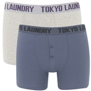 Tokyo Laundry Men's 2-Pack Malone Boxers - Vintage Indigo/Oat Grey Marl