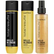Matrix Total Results Hello Blondie Shampoo (300ml), Conditioner (300ml) and Illuminator (125ml)