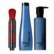 Shampoo (300 ml), Condicionador (250 ml) e Volumizador (2 g) Muroto Volume Pure Lightness da Shu Uemura Art of Hair
