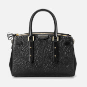 Aspinal of London Women's Brook Street Embossed Flower Tote Bag - Black