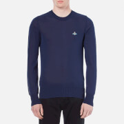 Vivienne Westwood MAN Men's Classic Round Neck Knitted Jumper - Navy