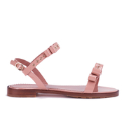 REDValentino Women's Eyelet Bow Flat Sandals - Nude