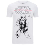 Star Wars Trooper Sketch Heren T-Shirt - Wit