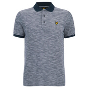 Lyle & Scott Vintage Men's Oxford Slub Pique Polo Shirt - Navy