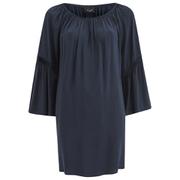 VILA Women's Alantata Long Sleeve Tunic Dress - Total Eclipse
