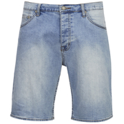 Cheap Monday Men's Line Denim Shorts - Atom Blue