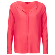 HUGO Women's Elley Blouse - Bright Pink